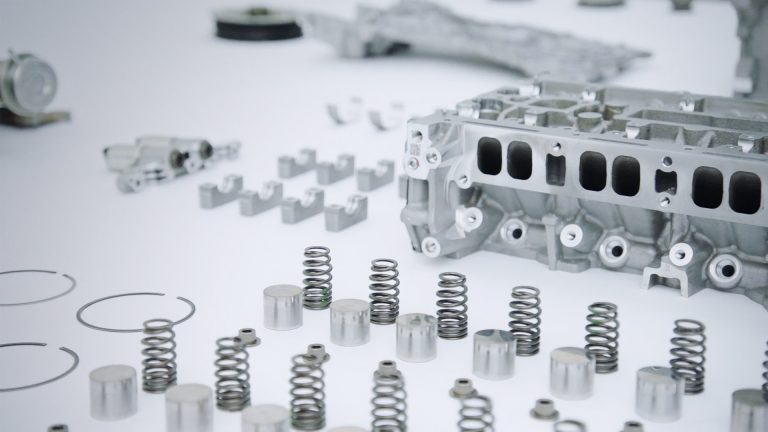 An image of car parts from a stripped engine following the Castrol GTX ULTRACLEAN 100,000 mile test