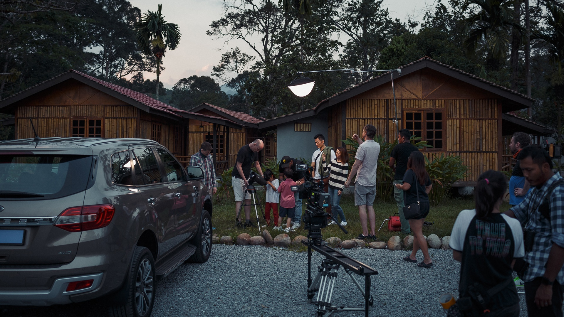 Behind the scenes shot of a recent Castrol MAGNATEC product film shoot in Malaysia