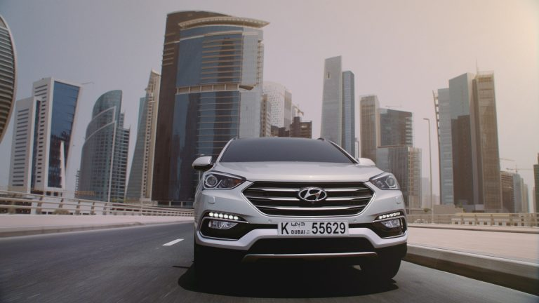A shot of from our Hyundai Santa Fe TVC shoot in Dubai