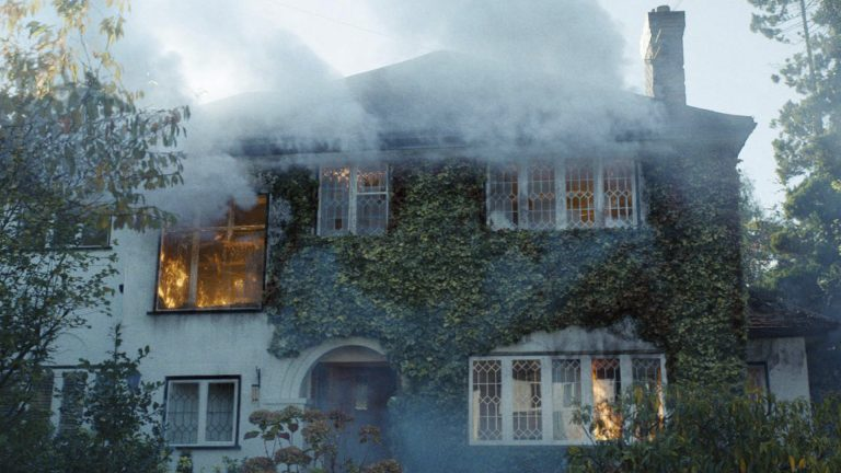 A house fire created for Netflix drama, Safe