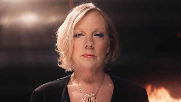 Image of Dragon's Den star Deborah Meaden in hostile VFX environment