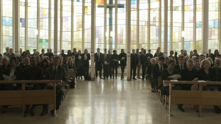 Crowd replication visual effects of people in a church