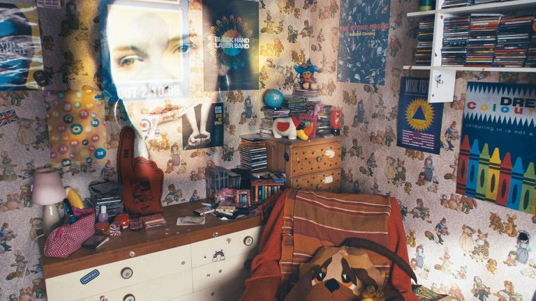 My Mad Fat Diary visual effects shot of teenage bedroom