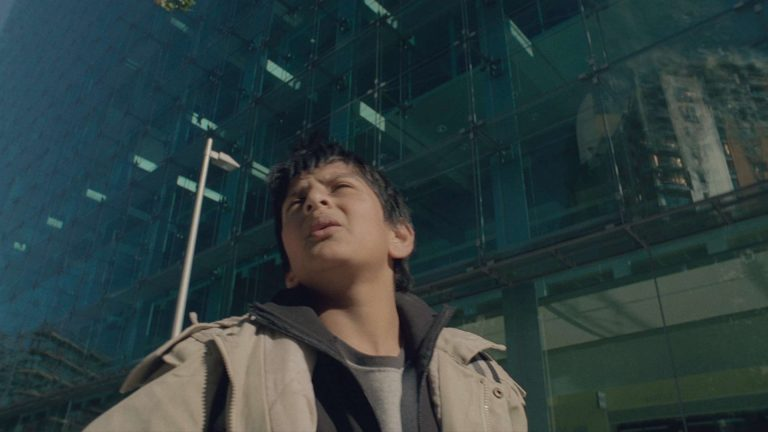 'Survivors' visual effects – Reflection of an apartment block fire behind cast member