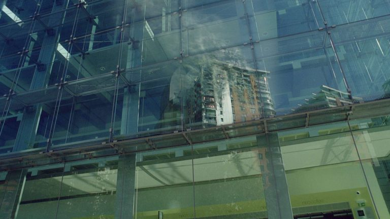 'Survivors' visual effects – Reflection of an apartment block fire