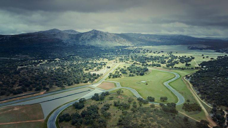 Drone shot of Ascari race circuit in Spain