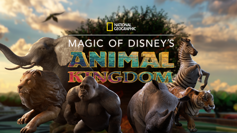 An image from the title sequence, depicting a herd of animals in front of the Tree of Life